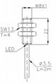常规系列电感式传感器(接近开关)M8 3
