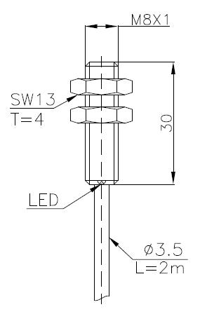 常规系列电感式传感器(接近开关)M8 4