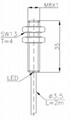 常規系列電感式傳感器(接近開關)M8
