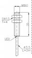 全金屬系列電感式傳感器(接近開關)M8 4