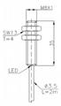 两线制电感式传感器(接近开关)M8 3