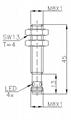 两线制电感式传感器(接近开关)M8