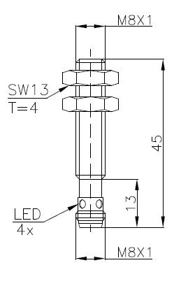 两线制电感式传感器(接近开关)M8 5