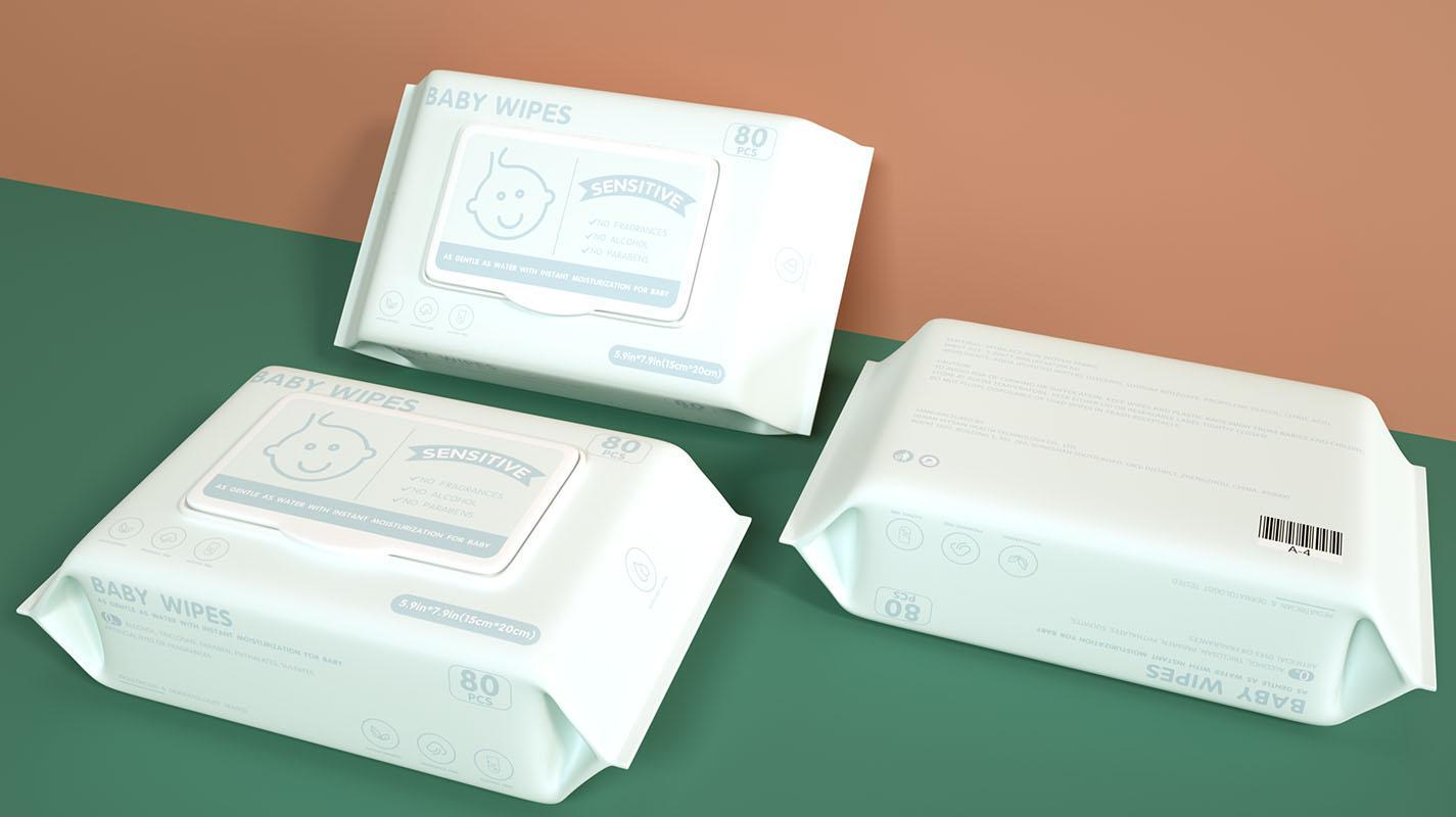 baby wet wipes 80pcs/bag baby wet tissue 4