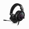 Best quality Cool RGB gamer gaming headset headphone with Led vibrator