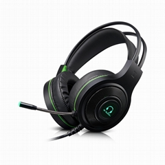 Factory direct selling best 7.1 gaming headset headphones with mic vibration