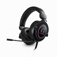 Dongguan Factory Hi-sound RGB gaming headset headphones