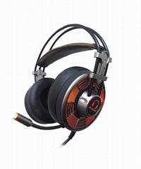 Custom logo glowing stereo headphones computer gaming headset with microphone