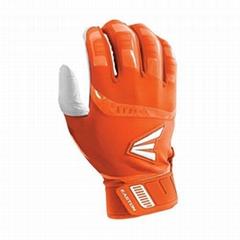 Easton Walk Off Adult Large White&Orange Baseball&Softball Batting Gloves Pair