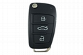3 button Audi remote control flip key