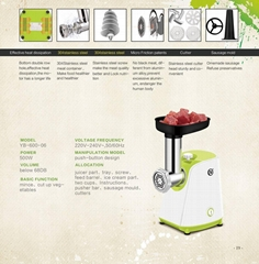high quality mini electric table meat grinder