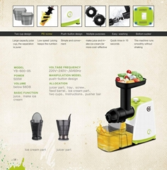 Green and Eco-friendly Portable electric multifunction juicer