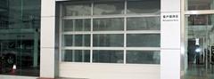 Glass garage doors with aluminum frame