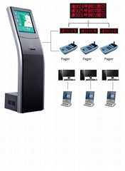 17 19 Inch LCD Touch Display Floor-Standing Information Query Kiosk for Bank