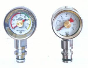 礦用耐震壓力表雙針壓力表 2