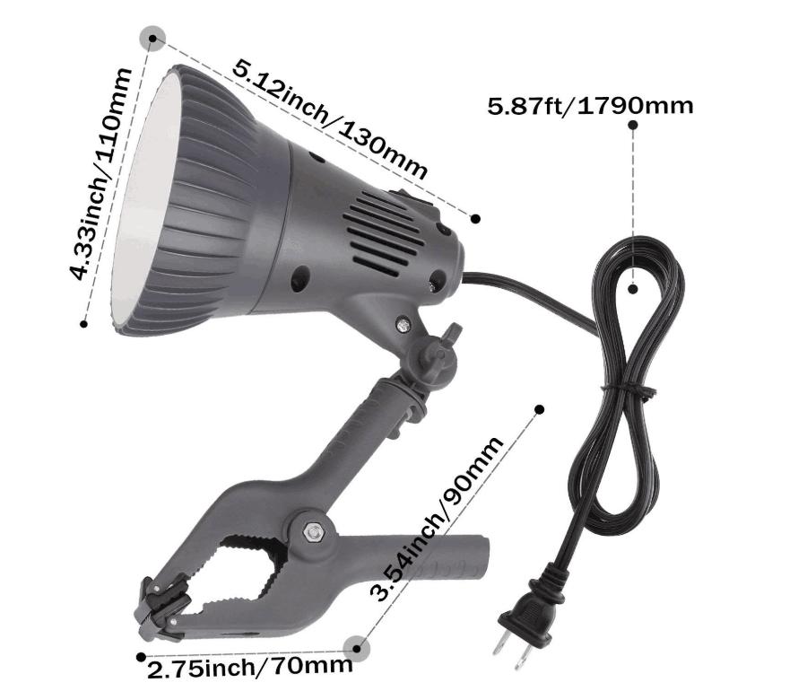 12W LED Clamp Work Lamp Ultra Bright Work Bench Light Desk ...