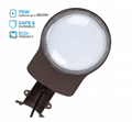 D2D Brown LED Barn Light Outdoor Wall Mount Overnight 5000K Daylight 2200lm 2