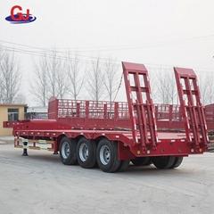 Heavy machinery equipment transporter gooseneck lowbed trailer