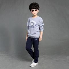 Custom Logo design organic cotton kids casual wear boys
