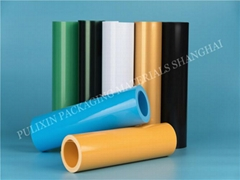 Matt colorful HIPS/PP plastic film  for electronic components packaging