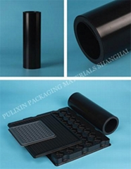 Black Embedded Conductive PP & HIPS plastic film  for electronic components pack