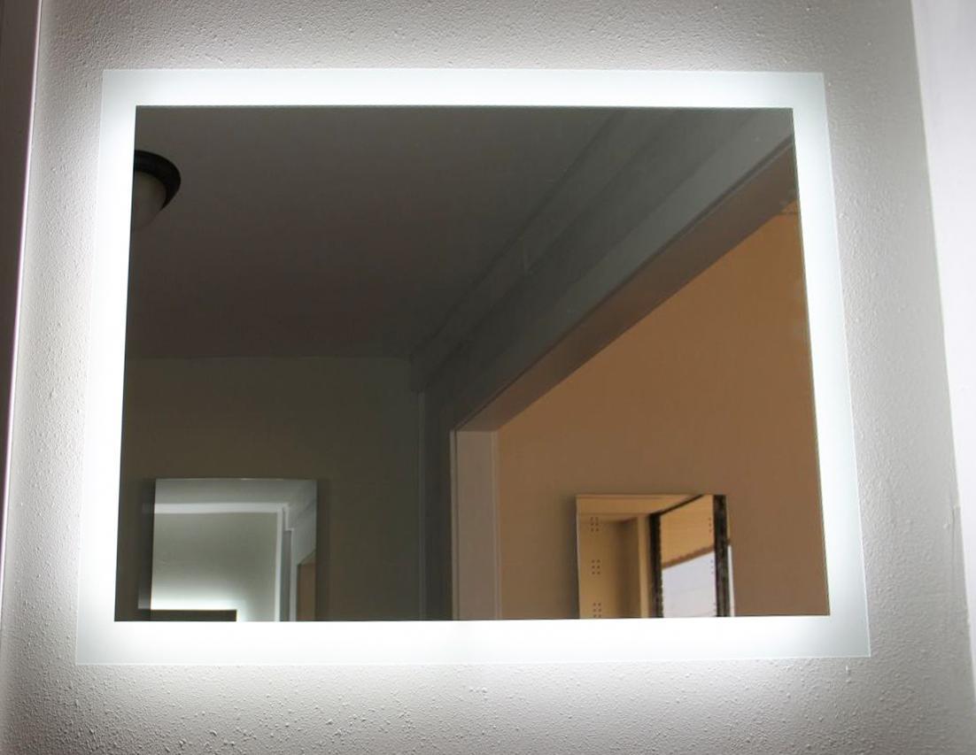 CE UL Wall Mount LED Lighted Bathroom Mirror Backlit Hotel Bathroom Mirror 2