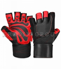 Weightlifting Leather Gloves