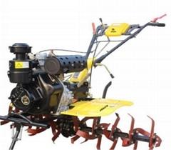 Gasoline 2 Wheel Red Handlebar Adjustable Gear Mini Rotary Power Tiller