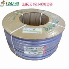 日本togawa胶管十川 网纹增强软管 工业透明pvc软管 油管