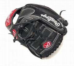 "Rawlings Custom HOH Horween PRO205DM-9 Black Pitcher Mesh Glove 11.75"" RHT"