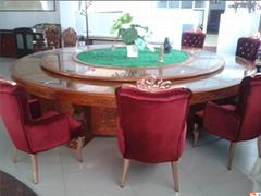 实木橡木圆桌