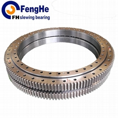 Double-row eight point contact ball slewing bearing