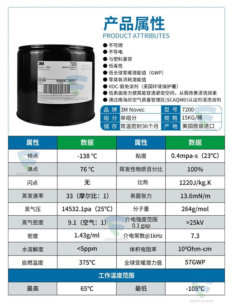 原装3M电子氟化液NOVEC 7200包邮 4