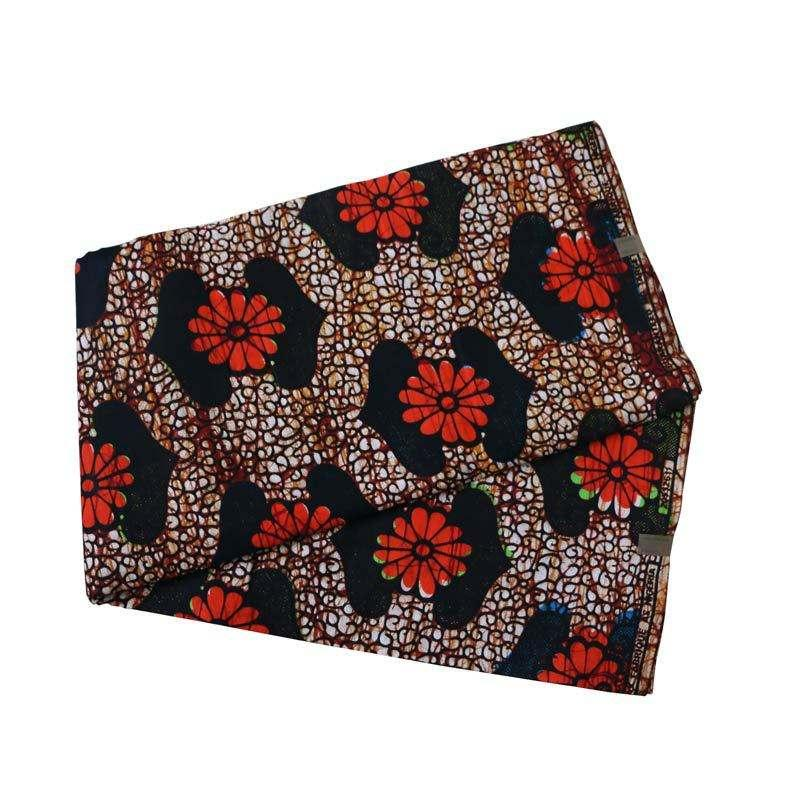 China supplier 100% polyester woven plain african print fabric for dress 3