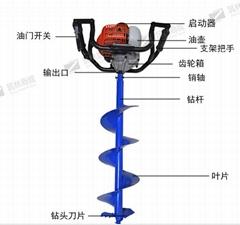 陝西筑林商城批發手提式挖坑機