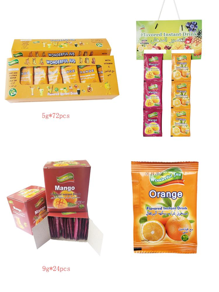 Hot Sell Instant Orange Juice Powder Drink 4