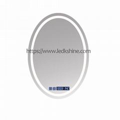 LED Oval bathroom mirror