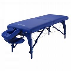 Master Massage 70cm Montclair Memory Foam Portable Massage Table, Imperial Blue