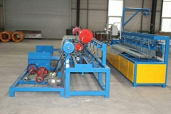 Automatic Single Wire Chain Link Fence Diamond Mesh Opening 30X30-100X100 Machin