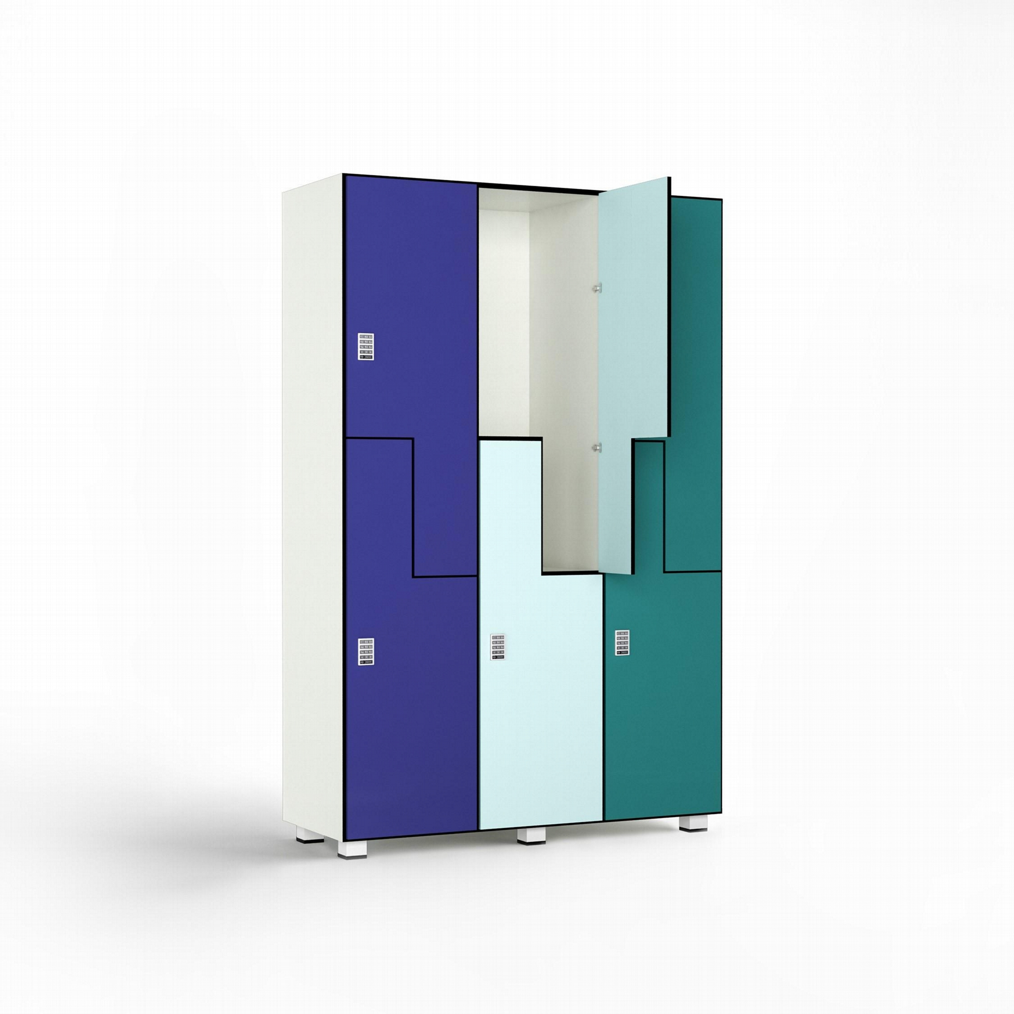 HPL lockers and phenolic compact laminate lockers 3