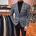 男士西服外套商務休閑西裝修身百搭潮流時尚男裝 1