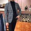 男士西服外套商務休閑西裝修身百搭潮流時尚男裝 3