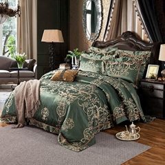 4pc. 6pc. Luxury Palace Sage Green Jacquard King Queen 600TC Duvet Cover Set