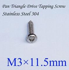 不鏽鋼304螺絲 P頭三角自攻螺絲 M3*11.5mm