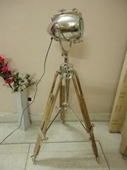 new royal floor light hot sale 2015 teak wood tripod focus light search light
