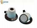 Ultrasonic alage control treatment for