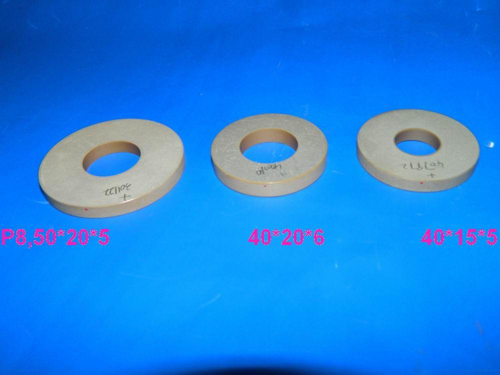 piezo ceramic ring for ultrasonic transducers