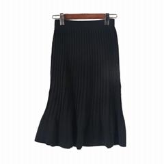 2019 FW fashionable ruffled edge long knitted skirts
