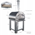 wood fired pizza oven for BBQ