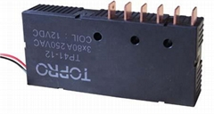 Three phase latching relay